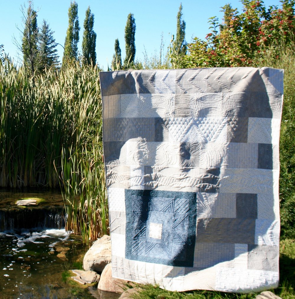 Here is my low volume quilt using Deena's Amazing new line of fabric.